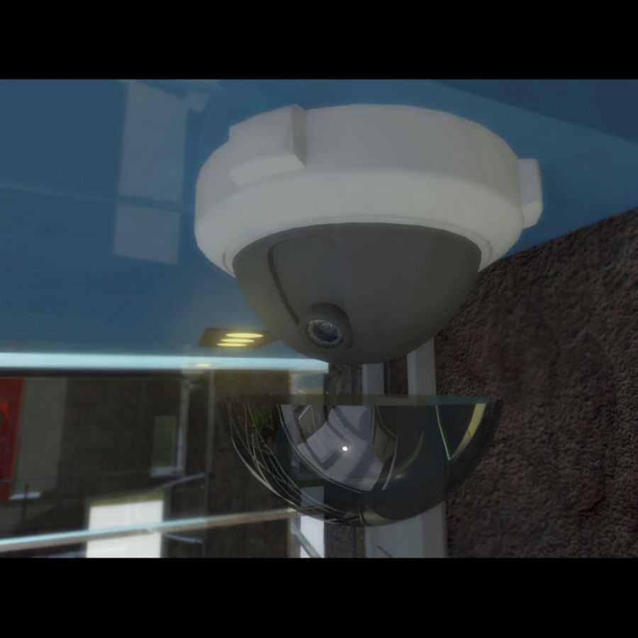 Dome Camera royalty-free 3d model - Preview no. 5