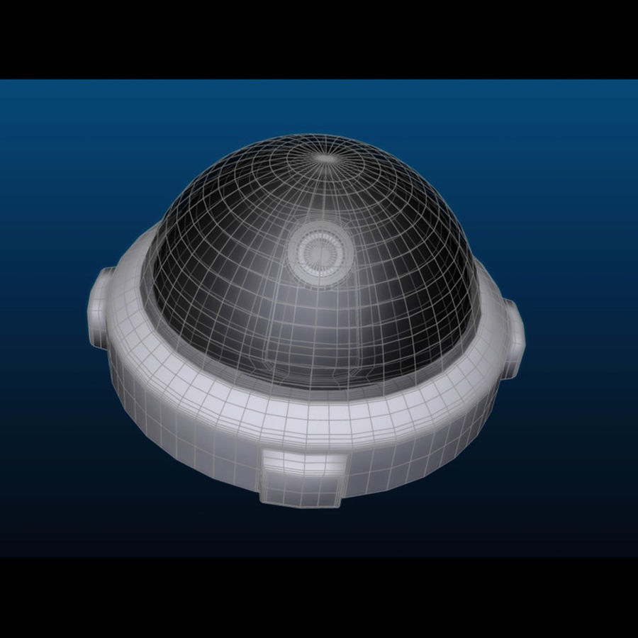 Dome Camera royalty-free 3d model - Preview no. 9