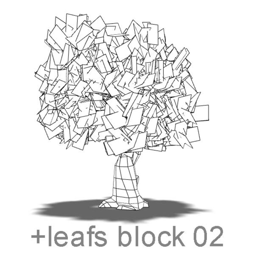 albero 07 basso poli royalty-free 3d model - Preview no. 5