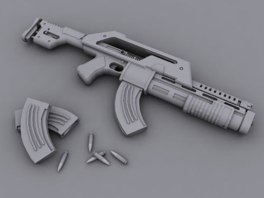rifle de asalto royalty-free modelo 3d - Preview no. 1