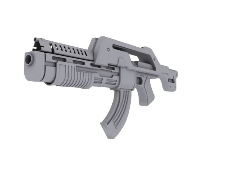 rifle de asalto royalty-free modelo 3d - Preview no. 3