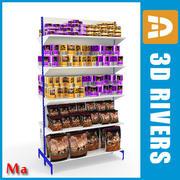 Shelves 01 animals v1 by 3DRivers 3d model