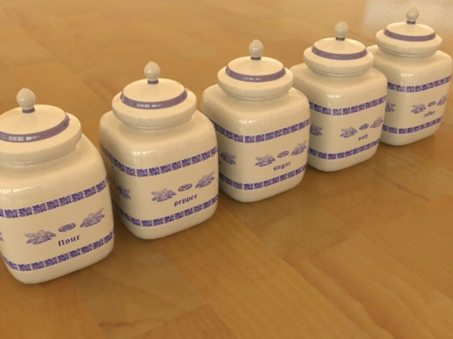 Jars for kitchen royalty-free 3d model - Preview no. 1