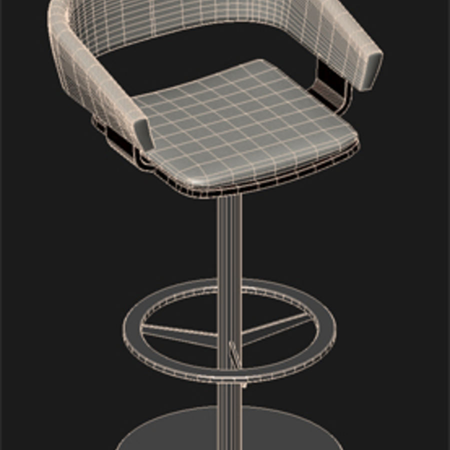 Barstool.zip royalty-free 3d model - Preview no. 3