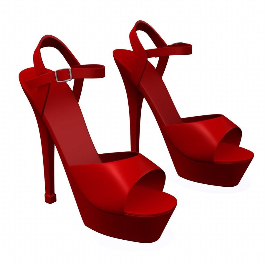 shoes2 royalty-free 3d model - Preview no. 2