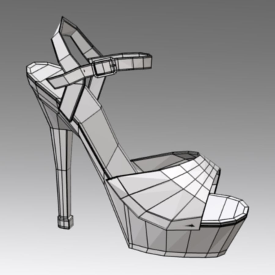 shoes2 royalty-free 3d model - Preview no. 5
