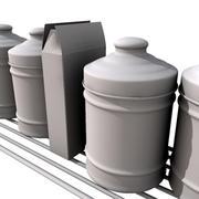 shelf with jars 3d model