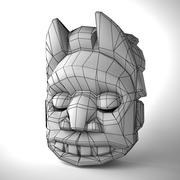 African mask 01 by 3DRivers 3d model