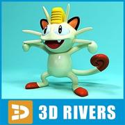 Meowth by 3DRivers 3d model