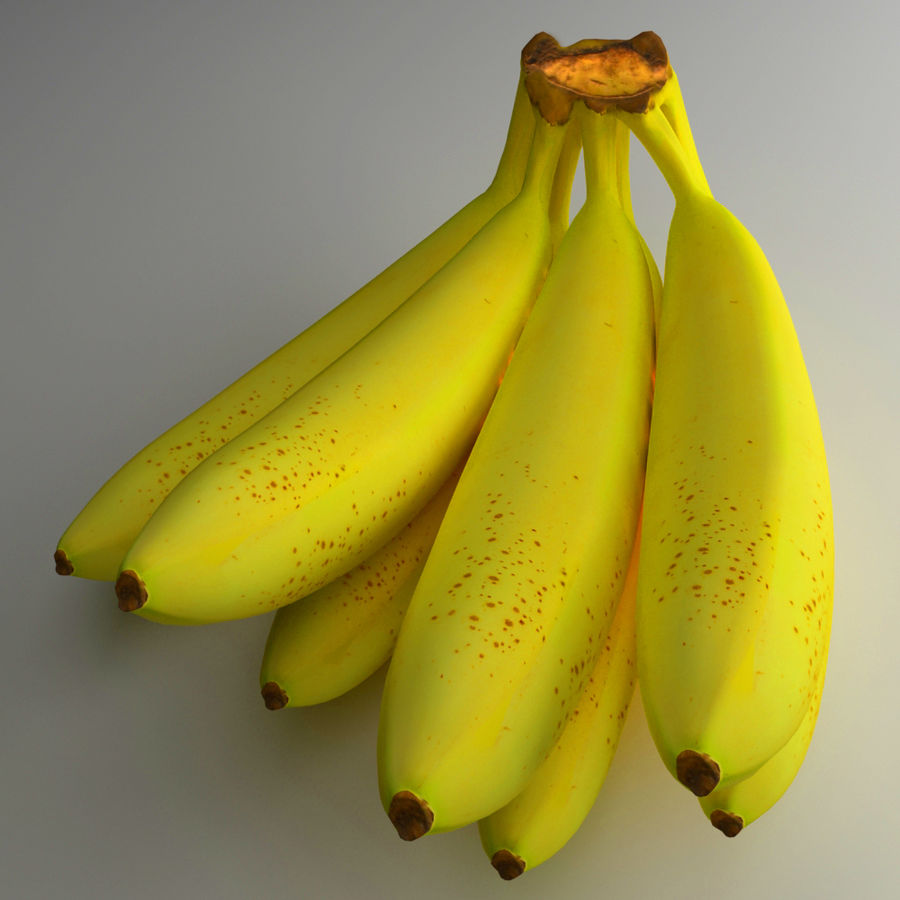 Banana royalty-free 3d model - Preview no. 2
