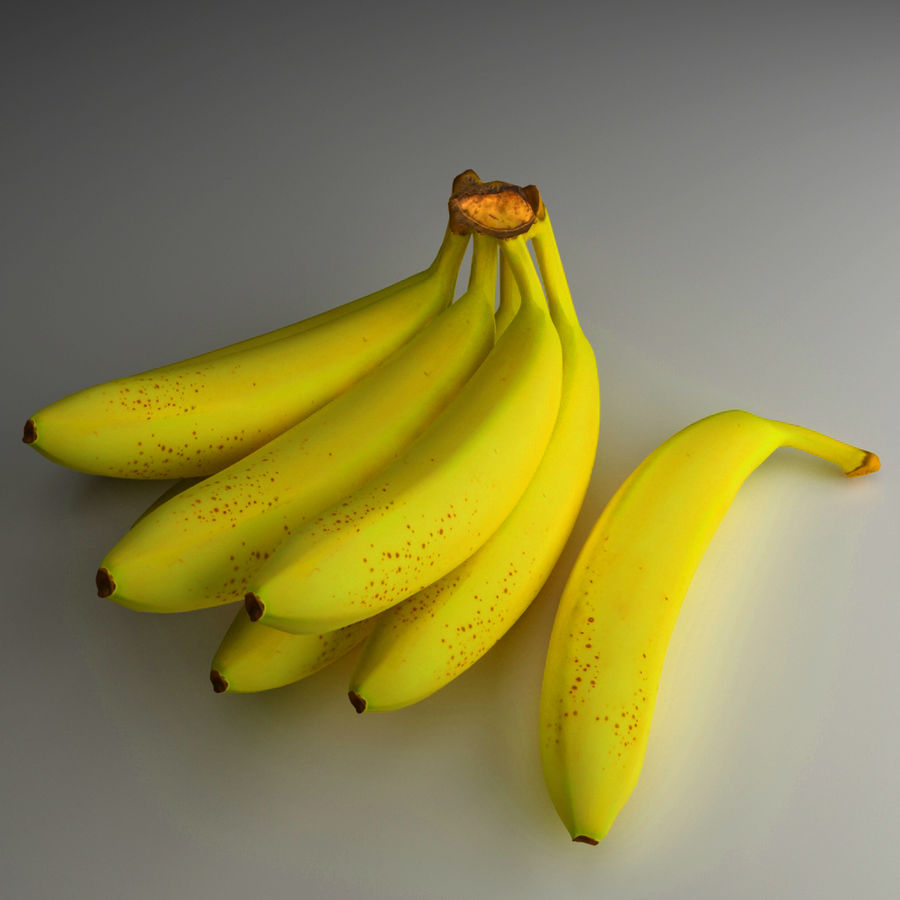 Banaan royalty-free 3d model - Preview no. 1