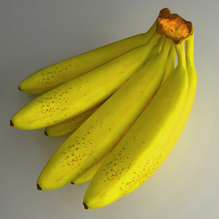 Banana royalty-free 3d model - Preview no. 3