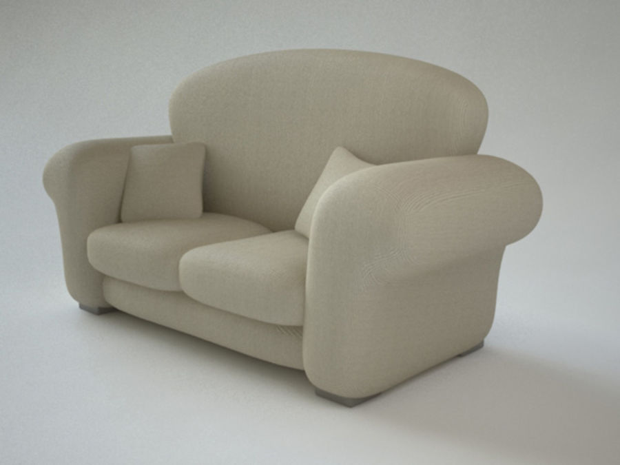 couch_J royalty-free 3d model - Preview no. 1
