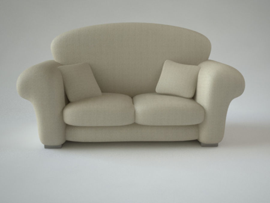 couch_J royalty-free 3d model - Preview no. 2