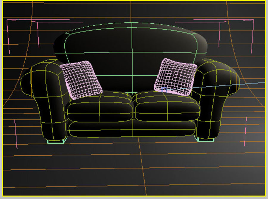 couch_J royalty-free 3d model - Preview no. 3