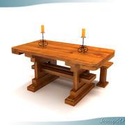 Mesa de Jantar Rústica do Velho Mundo 3d model