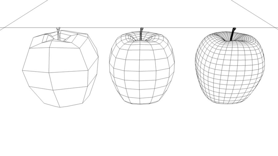 roter Apfel royalty-free 3d model - Preview no. 4