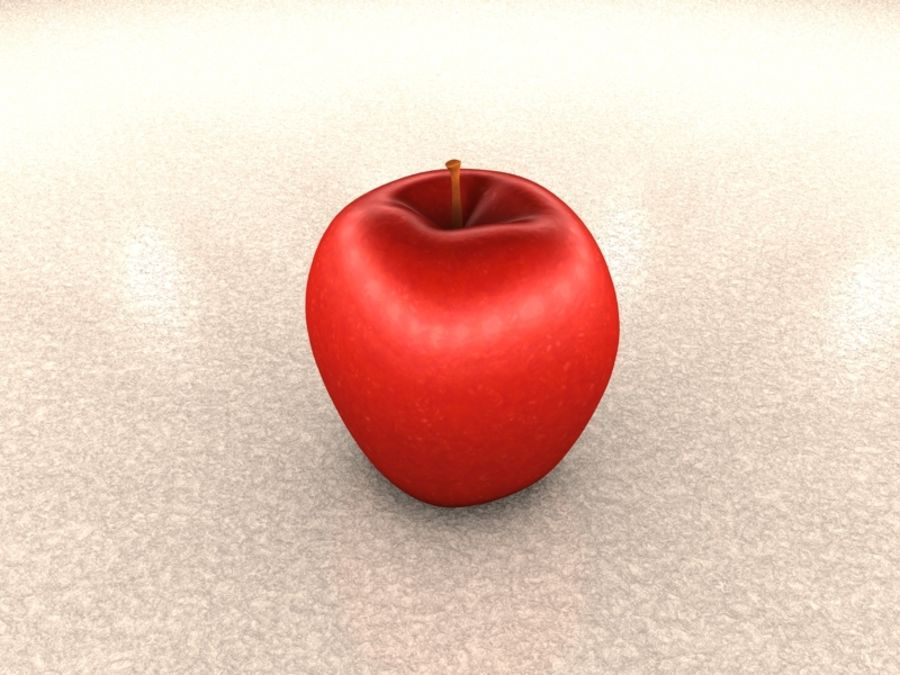roter Apfel royalty-free 3d model - Preview no. 1