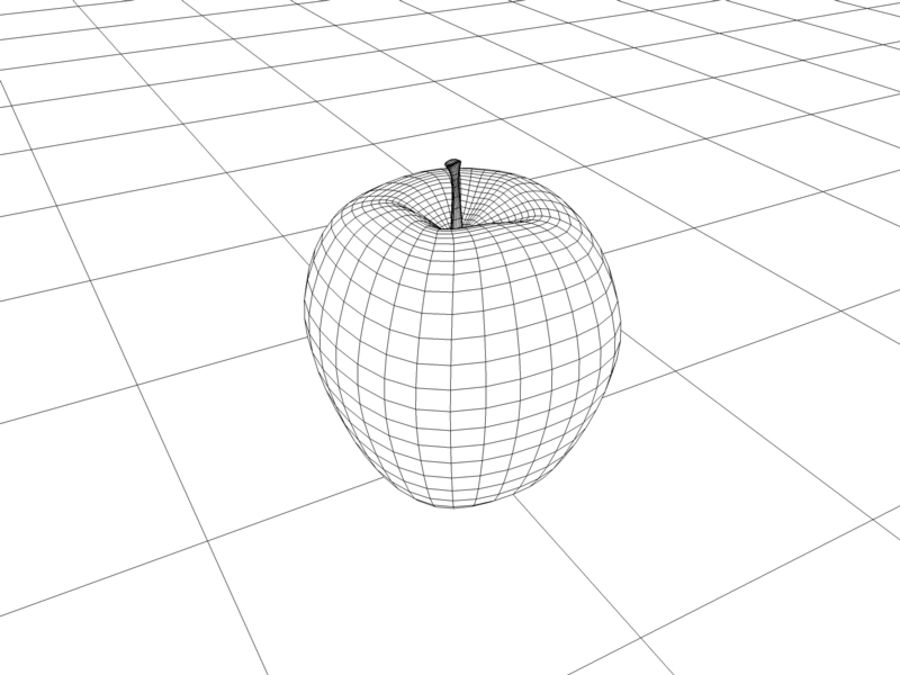 roter Apfel royalty-free 3d model - Preview no. 2