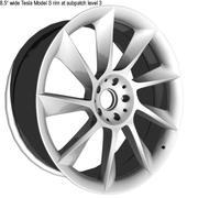 Nackte Felgen Tesla Model S - Subpatch 3d model