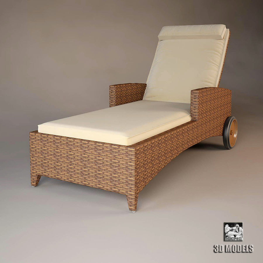 Relax chaise longue 3d model 12 max obj fbx dxf for Chaise longue dwg