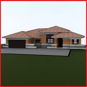 medium Latin Hacienda Modern villa 3d model