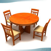 Contemporary Round Top Table 3d model