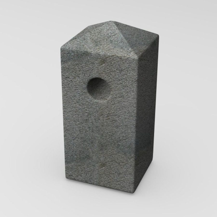 guard stone8 royalty-free 3d model - Preview no. 2