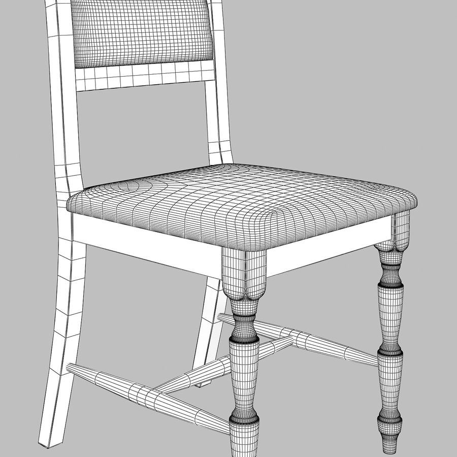 Chair cx royalty-free 3d model - Preview no. 4