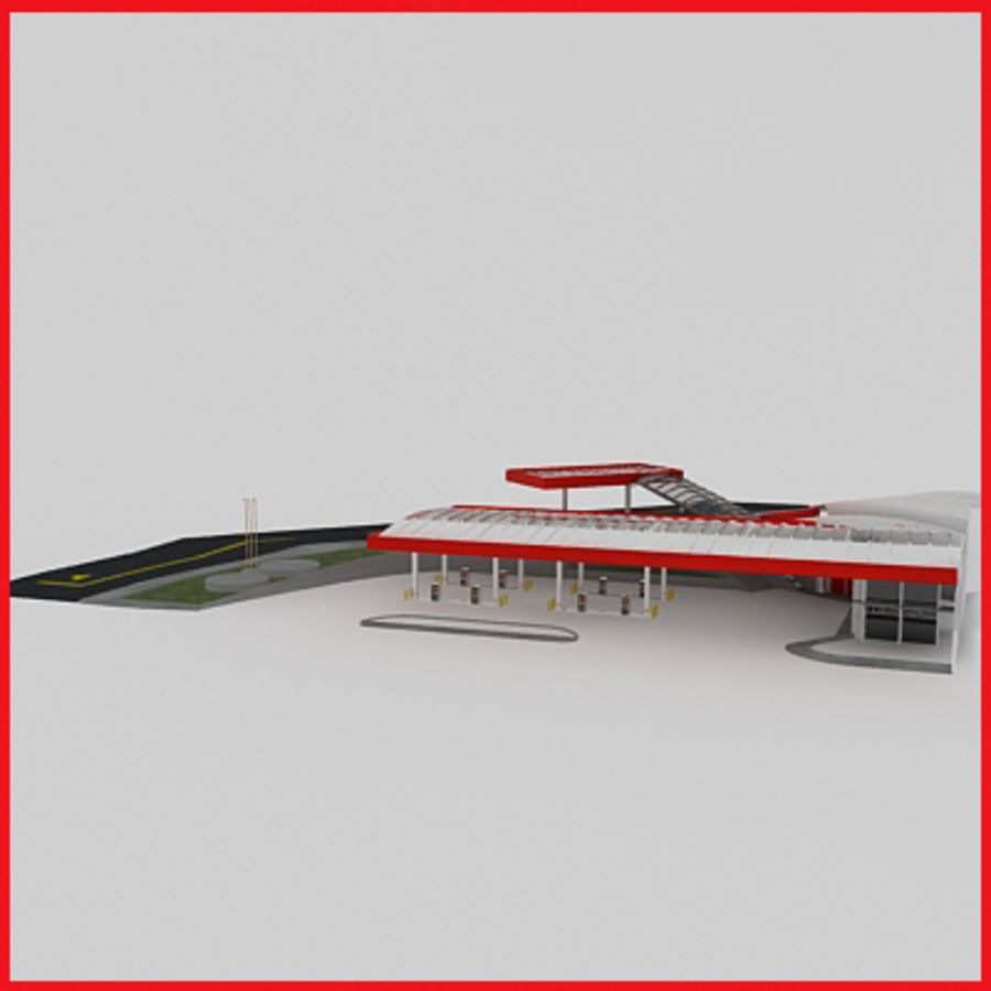 Gas Station royalty-free 3d model - Preview no. 4
