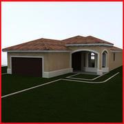 small Latin Hacienda Modern villa 3d model
