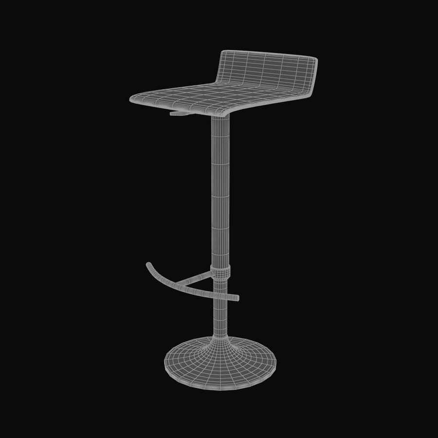 Barstool 02 royalty-free 3d model - Preview no. 7