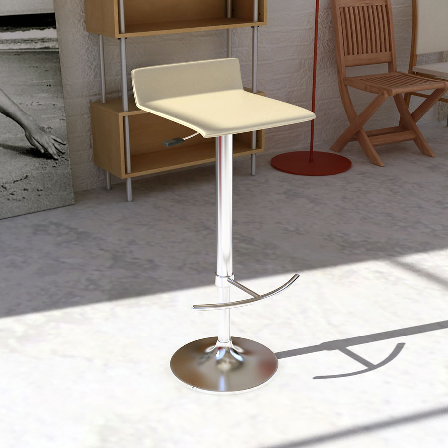 Barstool 02 royalty-free 3d model - Preview no. 2