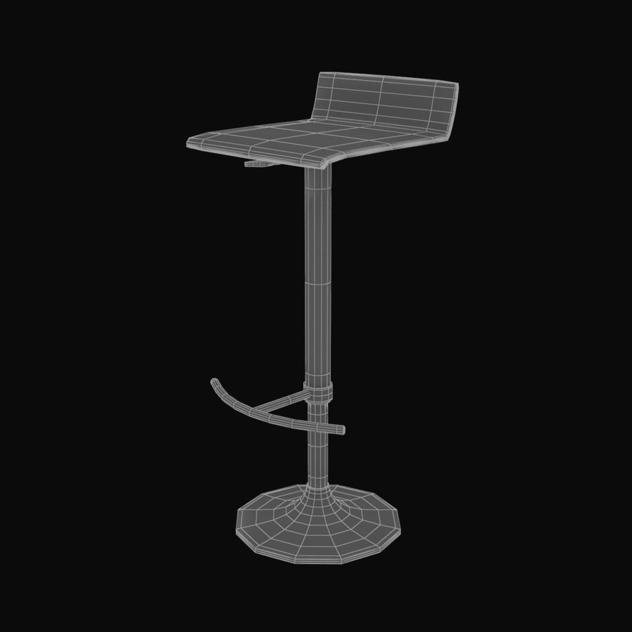 Barstool 02 royalty-free 3d model - Preview no. 8
