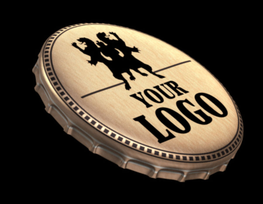 Accurate Bottle Cap royalty-free 3d model - Preview no. 1