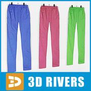 Pantaloni della tuta impostati da 3DRivers 3d model