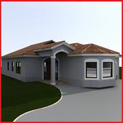 small Latin Hacienda Modern villa 2 3d model