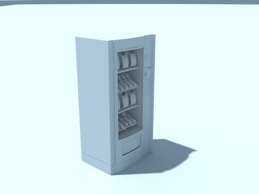 snacks vending machine royalty-free 3d model - Preview no. 5