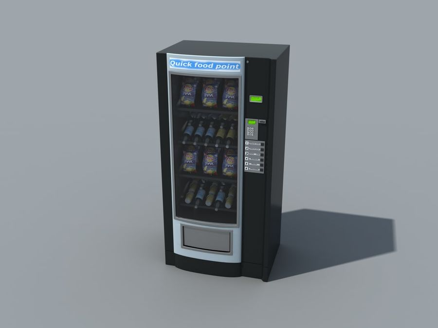 snacks vending machine royalty-free 3d model - Preview no. 2