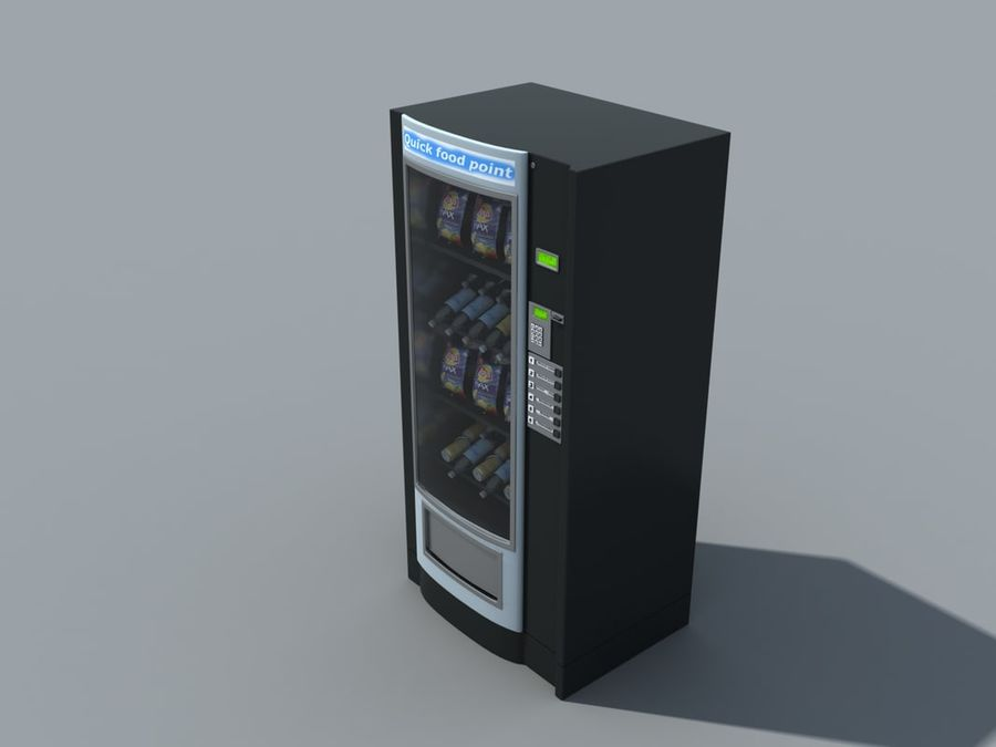 snacks vending machine royalty-free 3d model - Preview no. 3