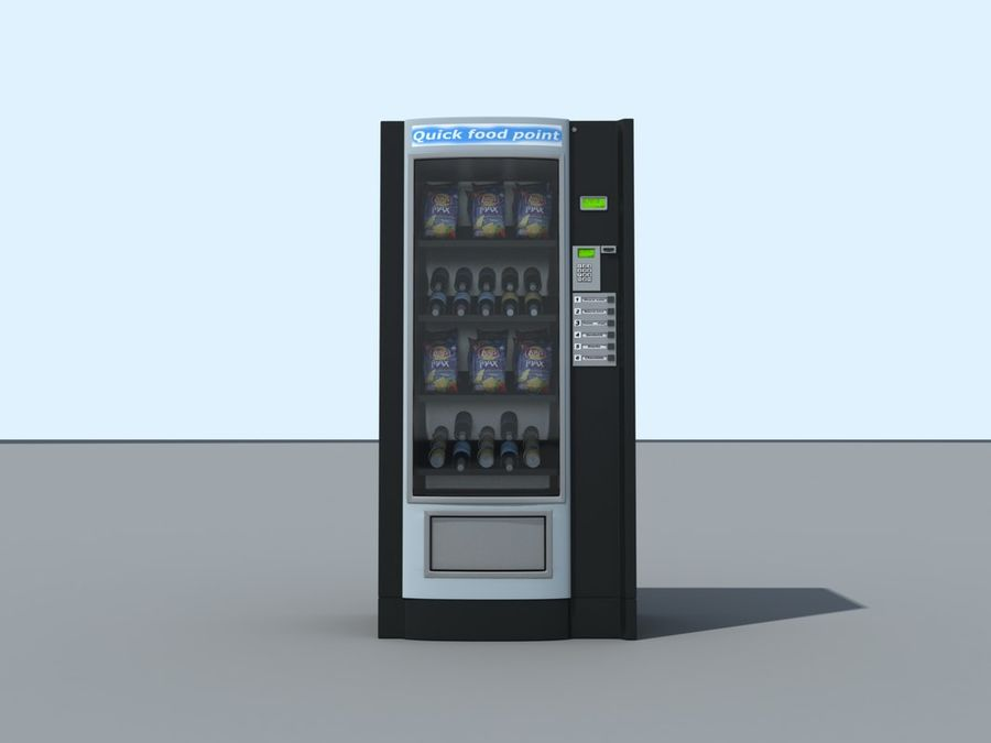 snacks vending machine royalty-free 3d model - Preview no. 4