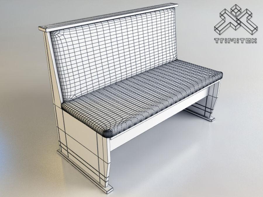 Cuscini Per Panca In Legno.Panca In Legno Con Cuscini Modello 3d 25 Max Obj Fbx