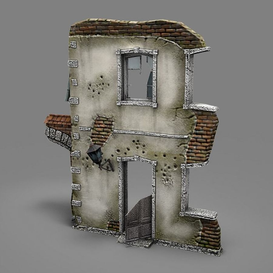 Ruin B royalty-free 3d model - Preview no. 3
