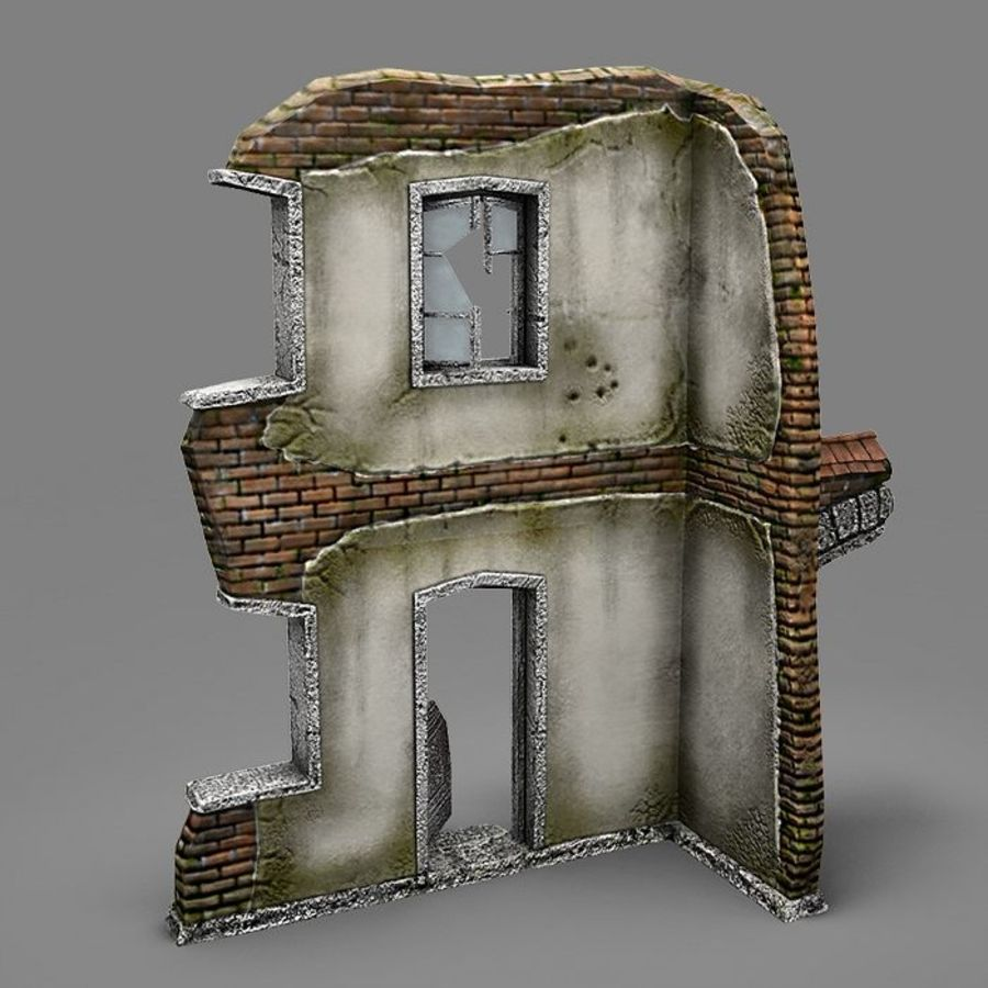 Ruin B royalty-free 3d model - Preview no. 4