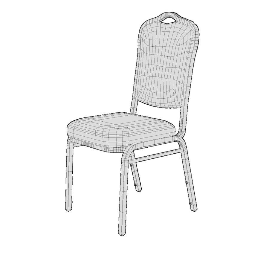 Banquet Chair 001 royalty-free 3d model - Preview no. 2