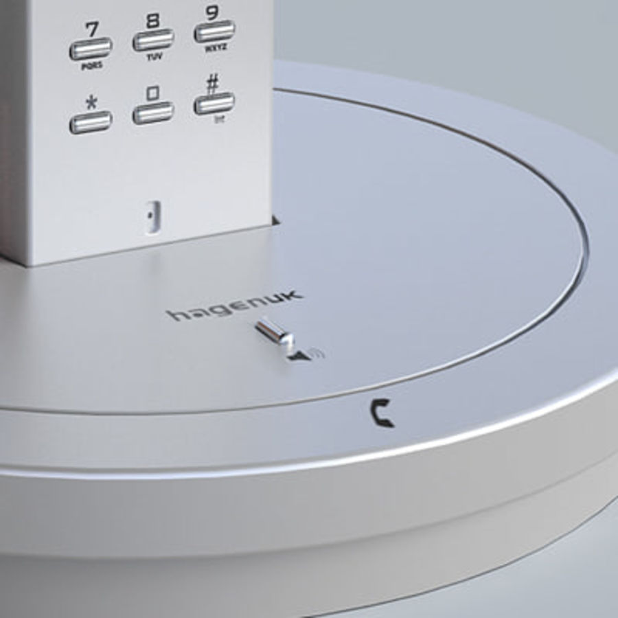 Hagenuk Classico cordless phone royalty-free 3d model - Preview no. 6