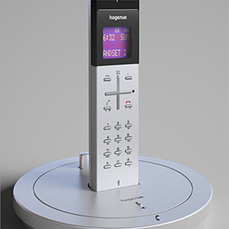 Hagenuk Classico cordless phone royalty-free 3d model - Preview no. 1