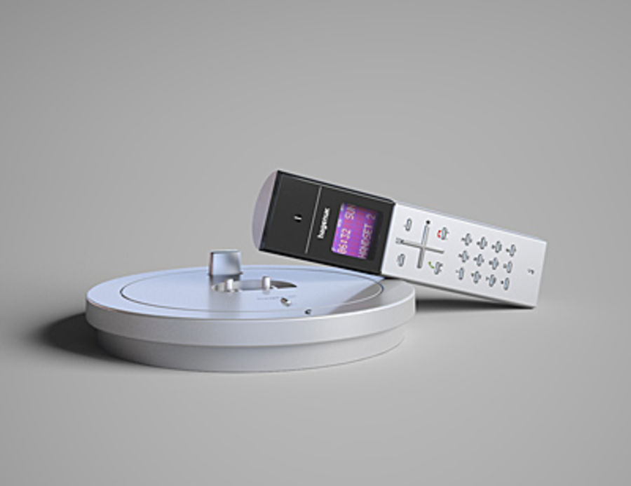 Hagenuk Classico cordless phone royalty-free 3d model - Preview no. 4