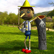 Pinocchio (Shrek 3) 3d model