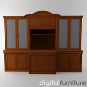TV Furniture Wall System 12 3d model